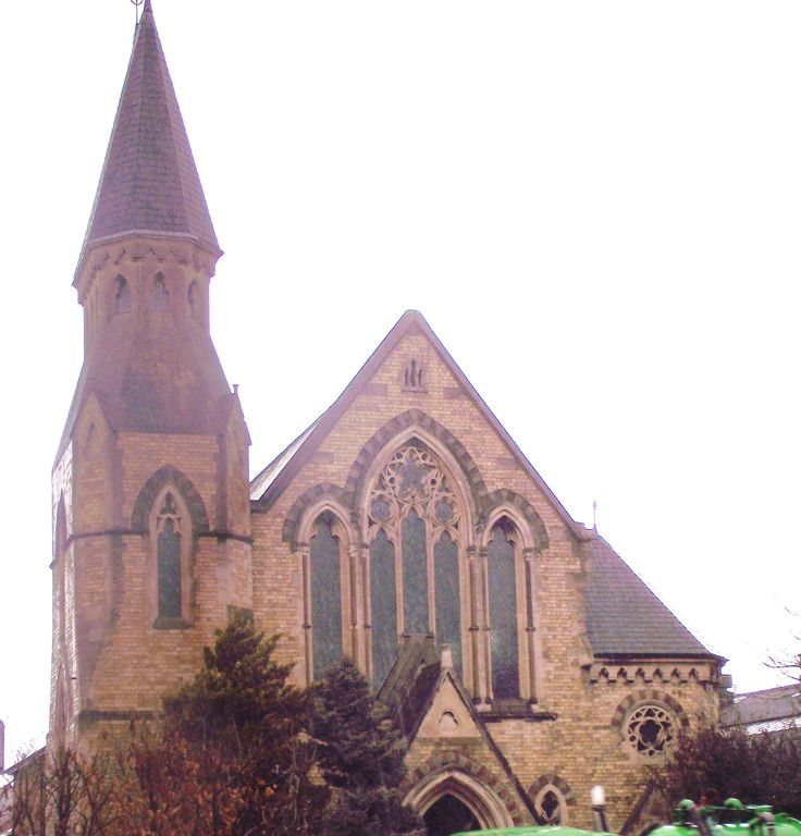 """The Eignbrook Congregational Church, Hereford, was called """"piquant"""" when it was built in 1873. Brooks (in Pevsner) calls it roguish and perverse. It is by local architect G.C.Haddon who had his Hereford office in Bridge Street. He built and restored countless schools and churches across Herefordshire and Worcestershire."""