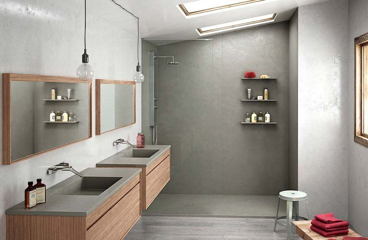55 best salle de bain images on Pinterest Saunas, Bathroom ideas - Stratifie Mural Salle De Bain