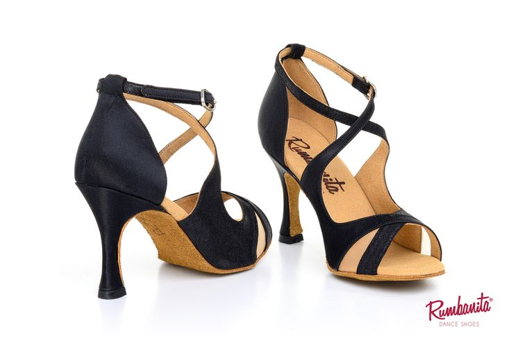Lagarriga Black by Rumbanita dance shoes. Perfect for social dance like salsa, bachata, rumba, kizomba, etc... Avaliable in 2 heel sizes.  See our romantic, feminine and vintage inspired collection in www.rumbanita.com. Designed and produced in Portugal