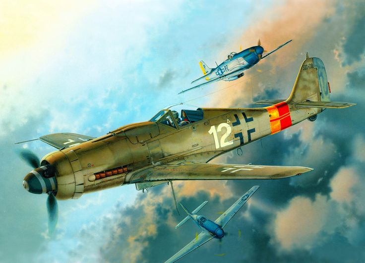 Focke Wulf Fw 190D9 'White 12', JG 301, by Martin Novotny