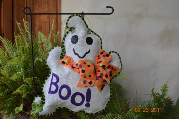 Ghost Burlap Door Hanger