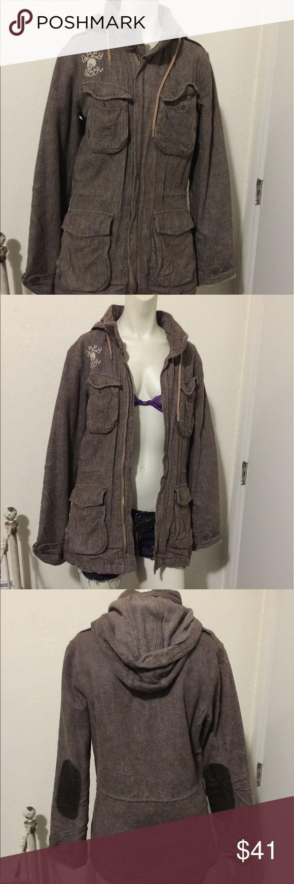Obey/ parka style jacket Obey brand/ gently used/ size M Obey Jackets & Coats Utility Jackets