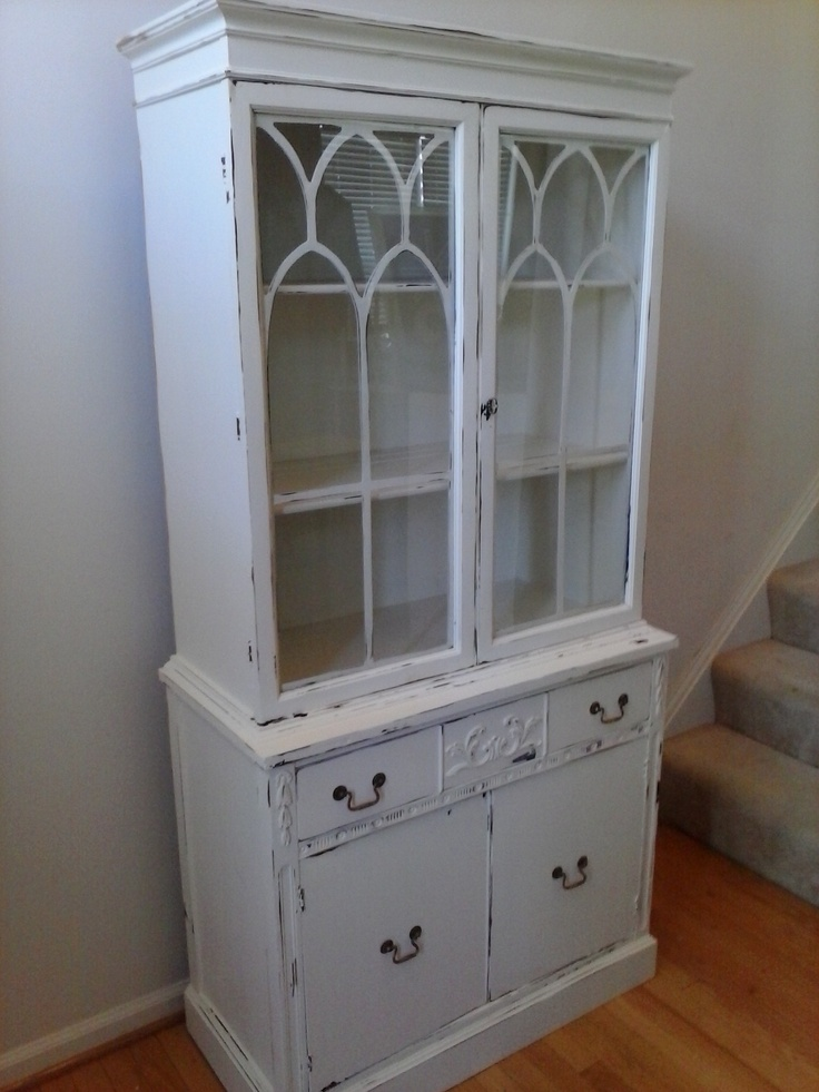 White Painted China Cabinet Painted Furniture Northern