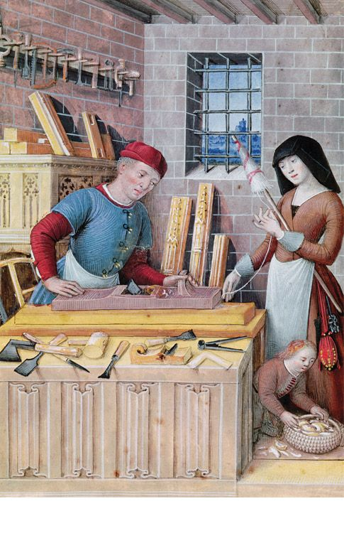 The artisan. From Les Quatre États de la société by Jean Bourdichon, late- 15th or early-16th c. (Bridgeman Art Library)