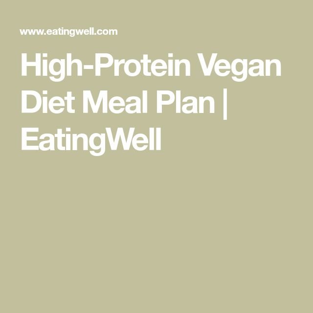 High-Protein Vegan Diet Meal Plan