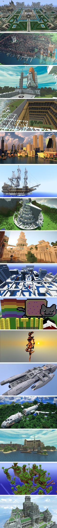 """Amazing """"Minecraft"""" Designs....this is what happens when your kids are looking at Pinterest with you ;)"""