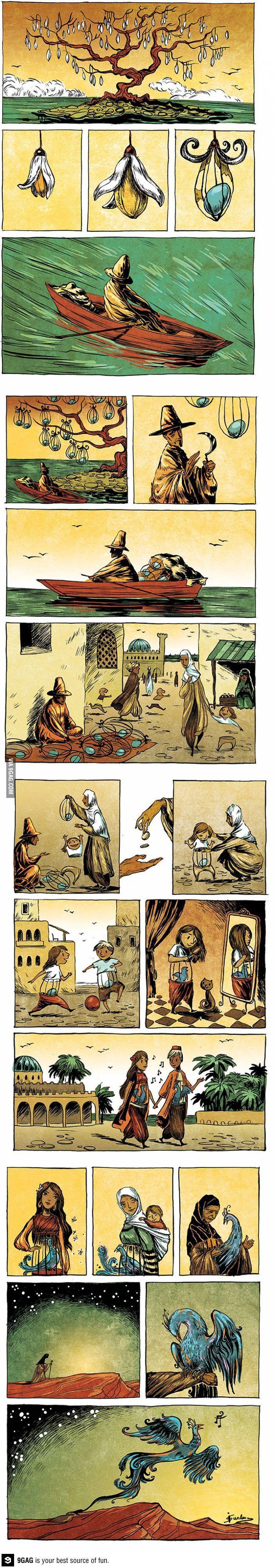 Uma vida simples- uma tirinha sobre o percurso de nossas almas