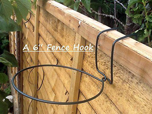 Fence Hooks 6 Plant Pot Hangers To Hang 6 Quot Pots On Fences