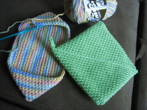 Magic square potholder -- the best there is! Easy first crochet project.