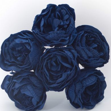 72 Stems Artificial Peonies  NAVY BLUE  Mixing by WisteriaAvenue