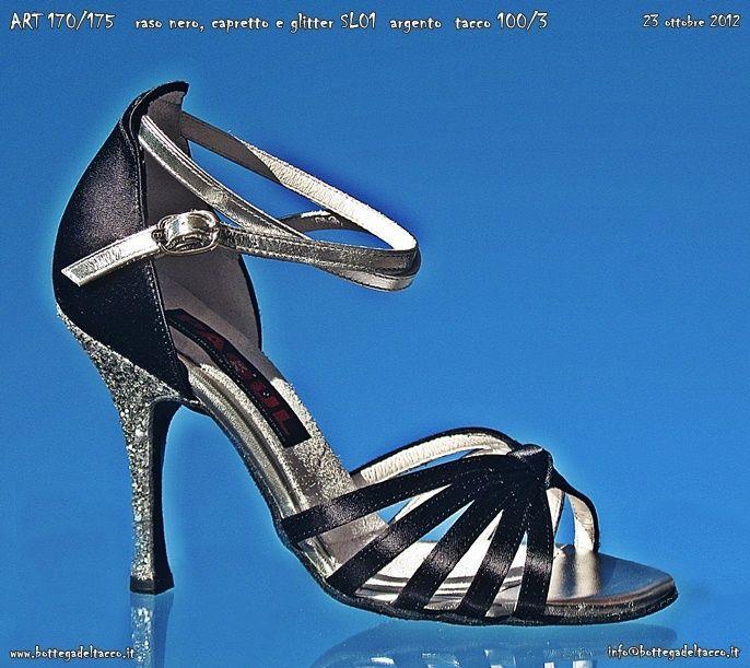ART 170 175 raso nero capretto e SL01 argento