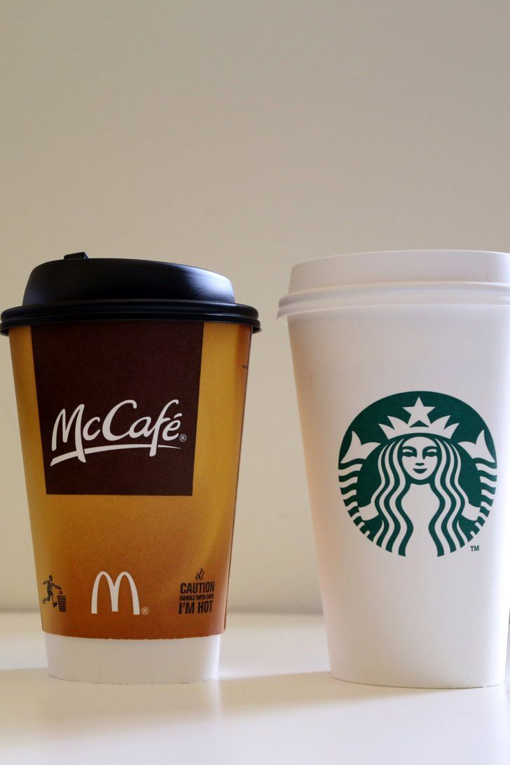 comparison of coffee starbucks and mcdonald s The magazine says mcdonald's premium roast coffee has no flaws, labeling it decent and moderately strong lastly- some of you may not like the comparison of mcd to starbucks- but before you look down your noses at the competition - mcd is a strong brand.