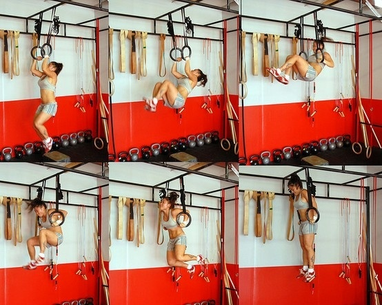 How to do a muscle up...yep just like that! super easy lol #crossfit  On the list for 2013...