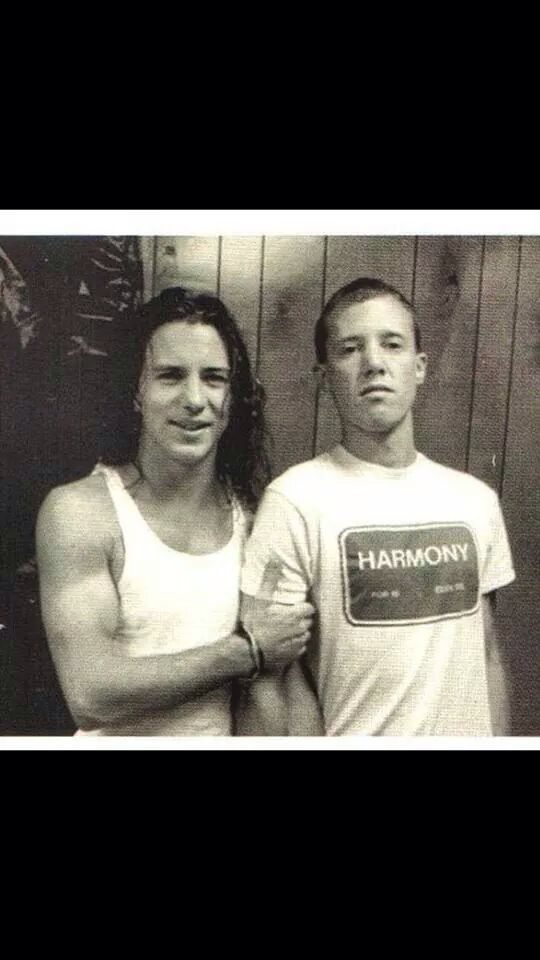 Young Eddie Vedder and Jack Irons