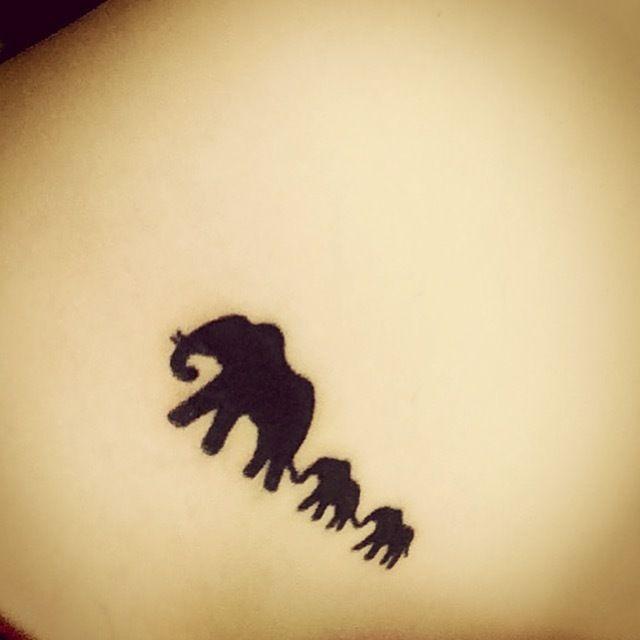 Elephant family tattoo original