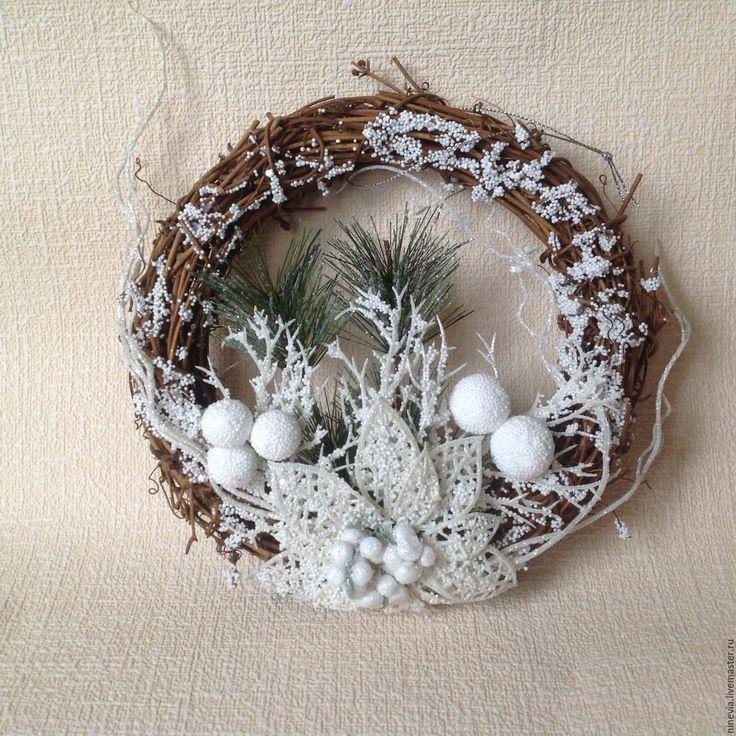 Купить Венок новогодний ( заготовка) - венок новогодний, венок на дверь, венок для интерьера