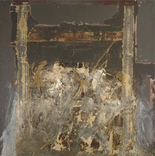 thunderstruck9:  Antoni Tàpies (Spanish, b. 1923), Arquitectura, 1963. Oil and sand on canvas, 163 x 163cm. viaartpropelled