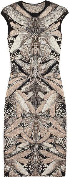 ALEXANDER MCQUEEN Wool and Silk Blend Dress - Lyst