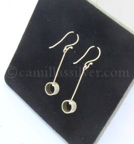 sterling silver jewellery - earrings - hanging circles