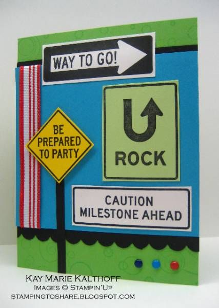 Milestone Birthday for a Teen by Speedystamper - Cards and Paper Crafts at Splitcoaststampers