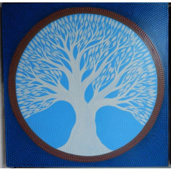Lukisan Abstrak Teknik Dot Motif Pohon Biru  Panjang : 70 cm  Lebar : 70 cm  Bahan : Kanfas, Cat Vynilex  Lukisan ini menggunakan Teknik Melukis Dot (Dot Painting).  Lukisan titik (dot painting) ini menggambarkan sebuah cerita. Pelukis dot menciptakan gambar dengan menerapkan titik-titik berbagai warna, dengan menggunakan alat-alat primitif seperti tongkat, duri moncong dan paku yang di lakukan pada suku Aborigin. Tapi sekarang sebagian seniman memadukan seni Lukisan titik (dot painting)…