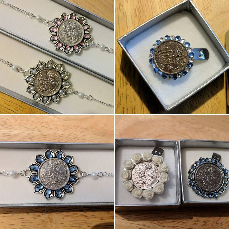 A few more of the orders that have been posted out in recent weeks. #luckysixpence #somethingblue #somethingold #weddingtraditions #shoeclip #anklet