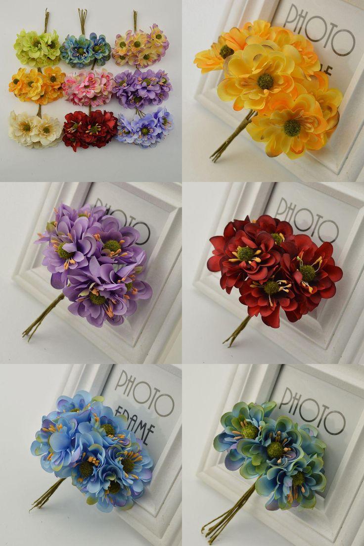 [Visit to Buy] 6 piezas 5 cm Artificial Ramo de flores de ciruela, flores de seda para la boda flores artificiales de la camelia decoracion Flo #Advertisement