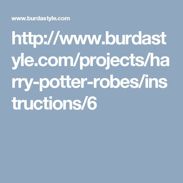 http://www.burdastyle.com/projects/harry-potter-robes/instructions/6