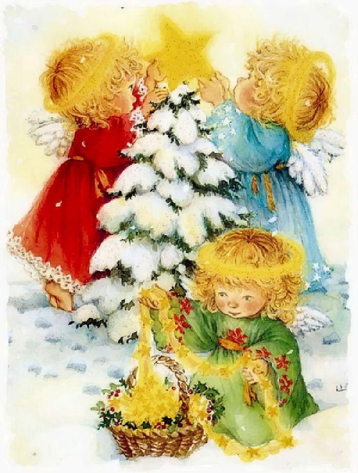 Картинки живые, рождественские детские открытки