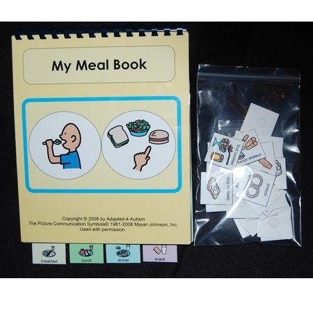 Meal time communication PECS book - great for kids with Autism Spectrum Disorders