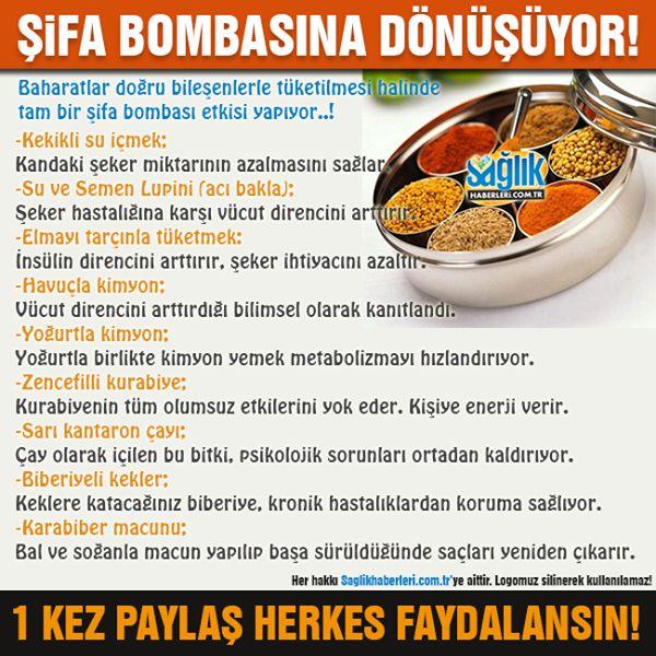 Baharatlar  ve faydaları! #baharatlar #sağlık #beslenme #sağlıkhaberleri