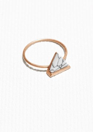 & Other Stories | Triangual Stone Ring