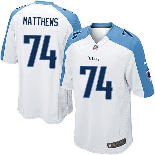 Youth Nike Tennessee Titans #74 Bruce Matthews Limited White NFL Jersey Sale