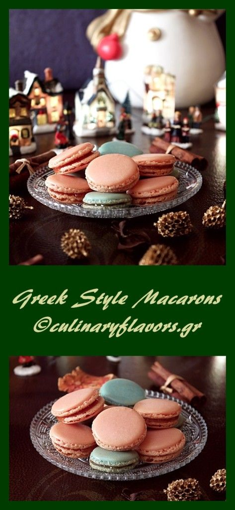 Greek Style Macarons | Delicious macarons with a Greek spiced preserves filling | culinaryflavors.gr | #macarons #fusion #sweets #Christmas #preserves