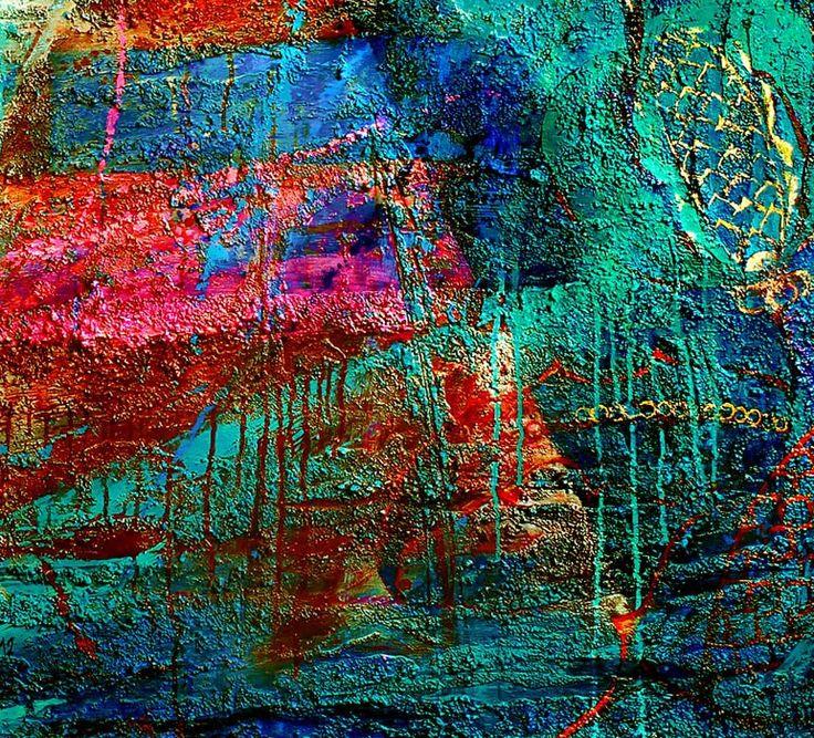 """BABYLON"", acrylic on canvas, relief pastes, 163x163 (fragment) ""ВАВИЛОН"", 2012, холст, рельефные пасты, золотая фольга, акрил, 163х163 см (фрагмент) more - https://www.facebook.com/boris.lavrentyev/media_set?set=a.697715290257815.1073741826.100000580506699&type=3"