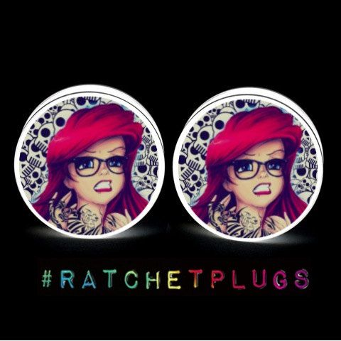 Hipster Ariel Plugs on Etsy, $13.00