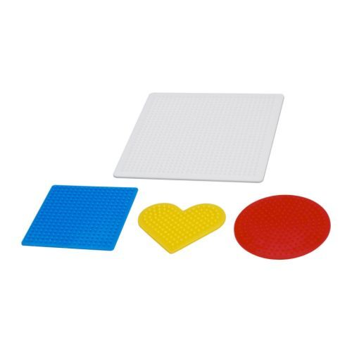 PYSSLA Bead shape set of 4 IKEA Helps the child develop fine motor skills and hand/eye co-ordination. $2 [D]