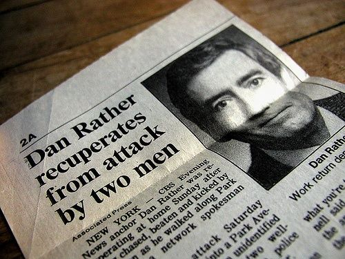 """In 1986, Dan Rather was attacked by a man who kept asking him """"Kenneth, what is the frequency?"""". In 1994, the attacker, William Tager, murdered NBC stagehand Campbell Montgomery outside the Today Show studio. Tager claimed that TV networks were beaming signals into his brain and he was attempting to force his way into the NBC studio to find out the frequency the networks were using to attack him."""