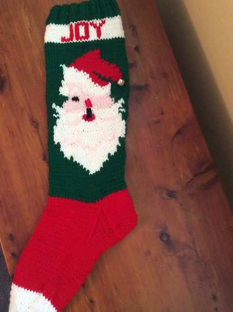 Ravelry: #7592 Jeweled Winking Santa Stocking pattern by Bernhard Ulmann Co.