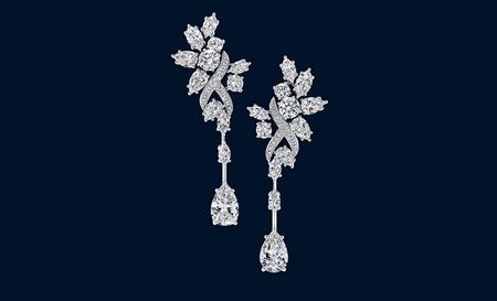 Secret Cluster by Harry Winston, Diamond Earrings To finish off the ensemble ~ http://www.harrywinston.com/store/jewels/secrets-collection/products