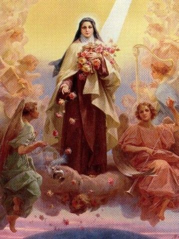 """After my death, I will let fall a shower of roses"" - Saint Thérèse, 'The Little Flower'."