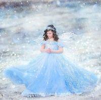 prinsessen jurk blauw 2