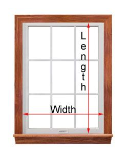 17 best images about window on pinterest window for Window length and width
