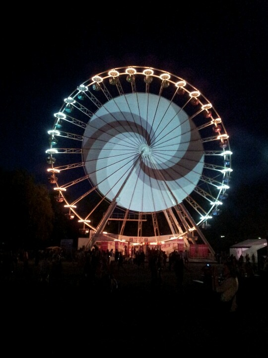 The Sziget Eye ferris wheel at the Sziget Festival 2012