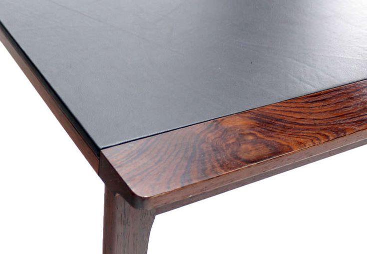 Amazing Leather Top Coffee Table Danish Mid Century Modern Leather Top Rosewood Coffee Table At