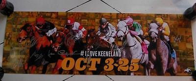 Horse Racing 429: 22X Jockey Signed 2014 Keeneland Race Track Fall Meet Poster Horse Racing Coa * -> BUY IT NOW ONLY: $70 on eBay!