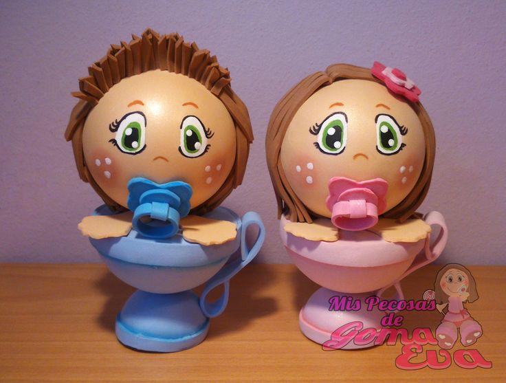 Moldes de Bebe Taza Niño y Niña.    En la entrada de mi blog: http://mispecosasdegomaeva.blogspot.com.es/2015/11/bebe-taza-nino-y-nina-moldes.html