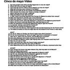 History Chanel Presents Cinco de mayo video worksheet 39 Questions