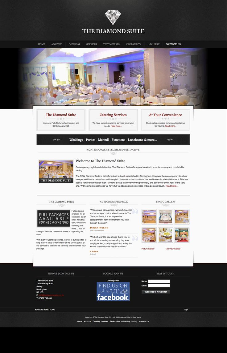 Web Design & Development for The Diamond Suite