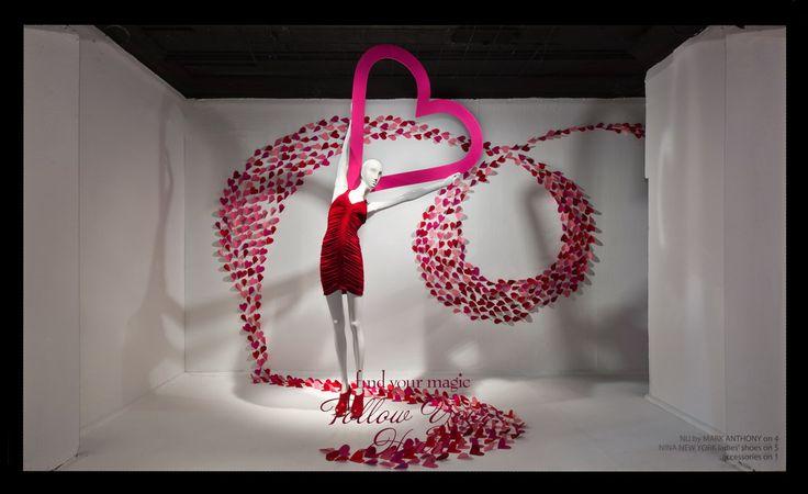 Macys Valentine's Day Window display #visualmerchandising #retail #windows